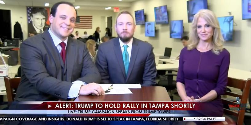 Donald Trumps kampanj sänder live